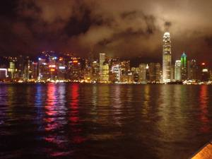 Hong Kong at night from Kowloon