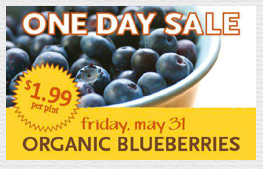 Whole Foods One Day Deal Organic Blueberries 199 How