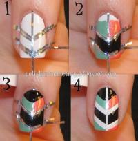 How to make cool shield nail art step by step DIY ...