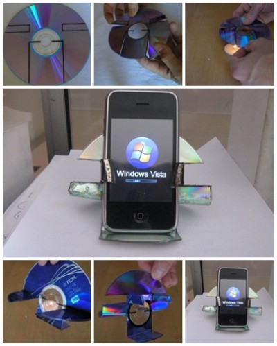 How to use recycled CD to make your own simple iphone