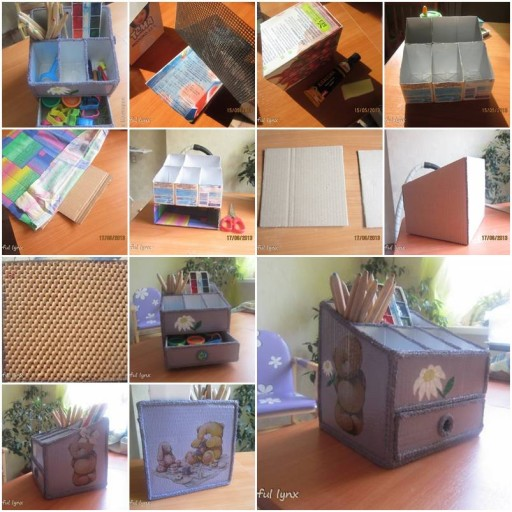 How To Make Beautiful Desk Organizer step by step DIY
