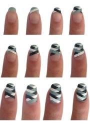 make lovely nail art step