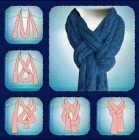 How to tie a scarf step by step DIY tutorial instructions