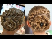 curl hair dutch flower