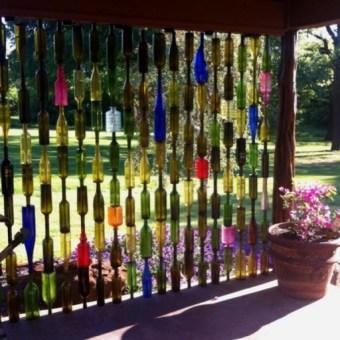borosüveg DIY térelválasztó