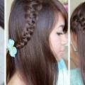 Strand braid hairstyle for medium long hair diy tutorial step by step