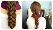 cute stacked braids hairstyles