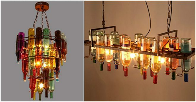Bottle Chandelier Lighting