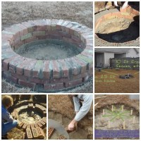 How To Build A Sturdy Brick Fire Pit   How To Instructions