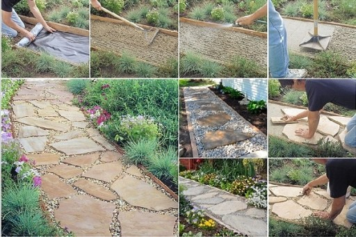How To Make Flagstone Garden Path Step By Step DIY Tutorial