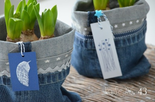 DIY Recycled Jeans Planter  How To Instructions