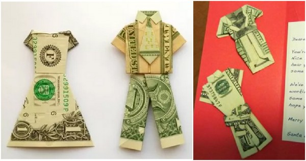 Money Origami Shirt Tutorial How To Instructions