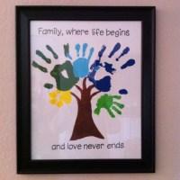 How To Make Hand Print Family Tree Wall Art | How To ...