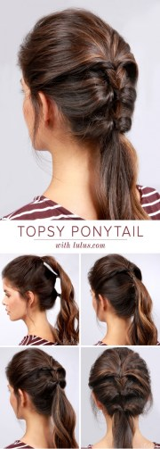 topsy pony tail hairstyle