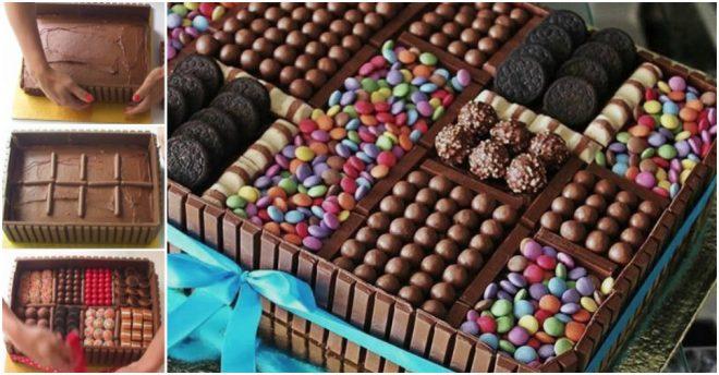 Cake Decoration  Chocolate Box Cake  How To Instructions
