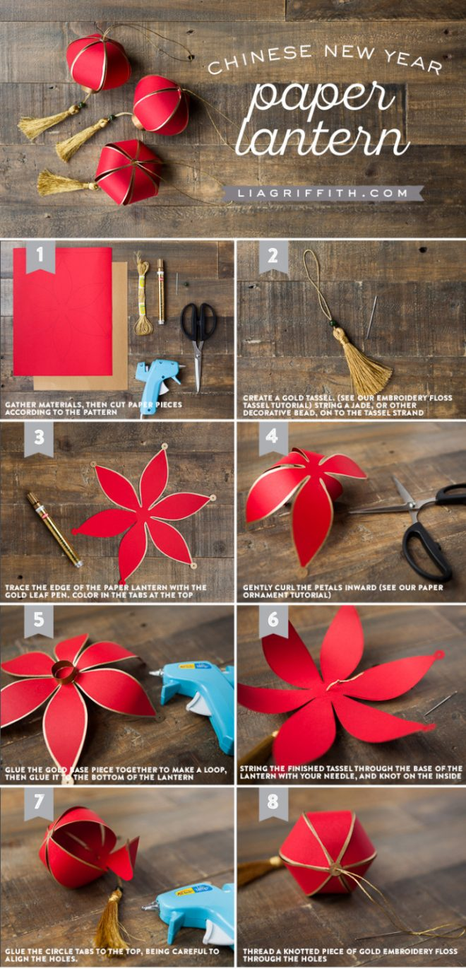 How To Make Chinese New Year Paper Lantern  How To