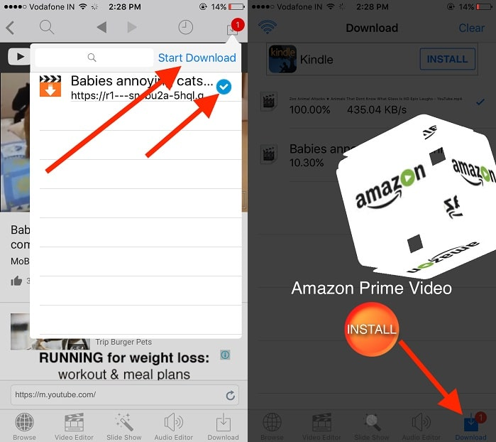 Download YouTube video for offline play in iPhone. iPad