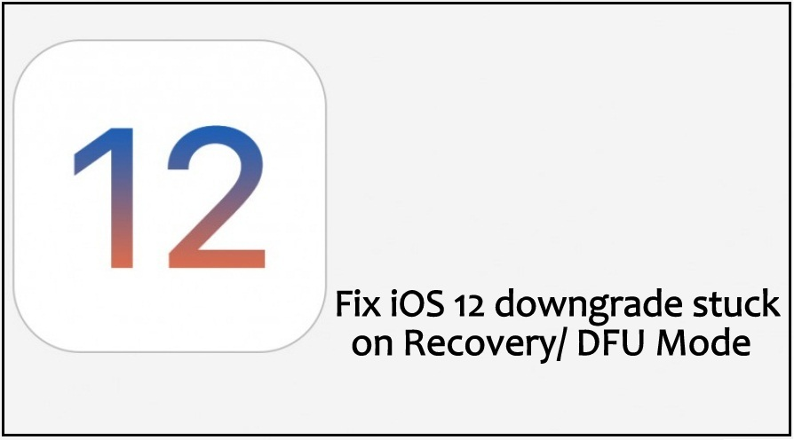 Fix iOS 12.3.2/iOS 12 Downgrade Stuck on Recovery/ DFU