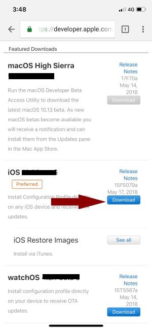 download iOS 13 developer beta profile & Download iOS 13