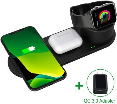 Подставка для беспроводного зарядного устройства Aresh, совместимая с зарядным устройством Apple Watch