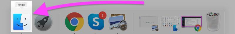 Открыть Finder на MacBook Mac