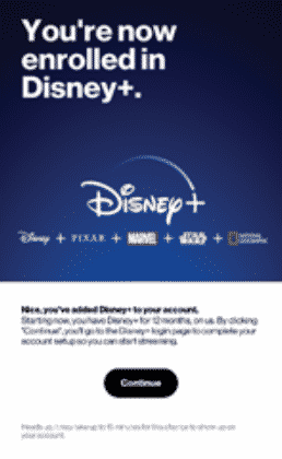 Disney + with Verizon unlimited or 5G internet