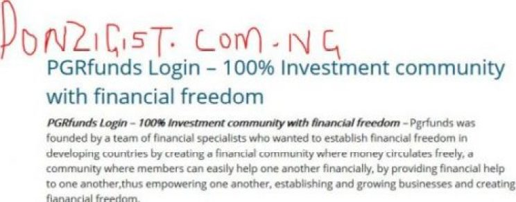 PGRfunds Login - 100% Investment community with financial freedom