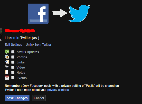 How to link your Facebook page to Twitter