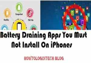 Battery Draining Apps You Must Not Install On iPhones