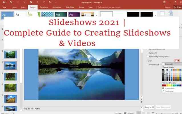Slideshows 2021   Complete Guide to Creating Slideshows & Videos