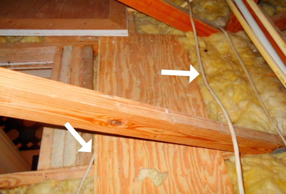 medium resolution of what are the code requirements for nm cable nonmetallic sheathed cable or romex in an attic