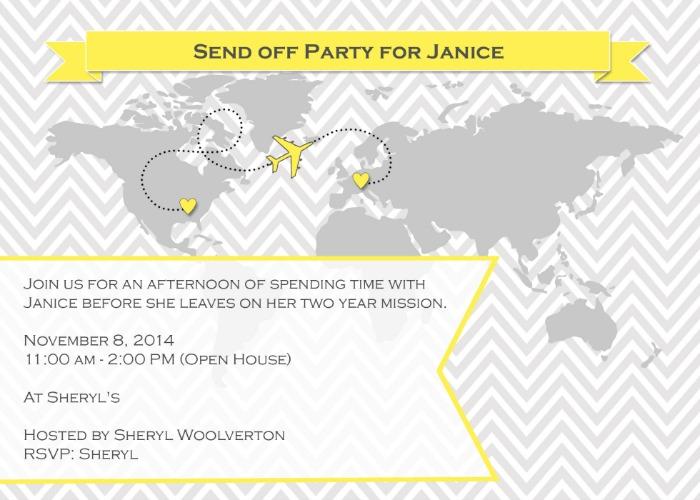 Send Off Invitation