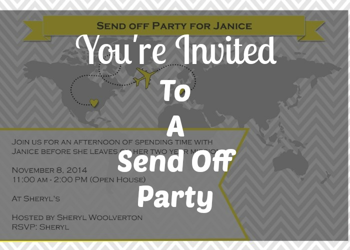 Send Off Invitation!