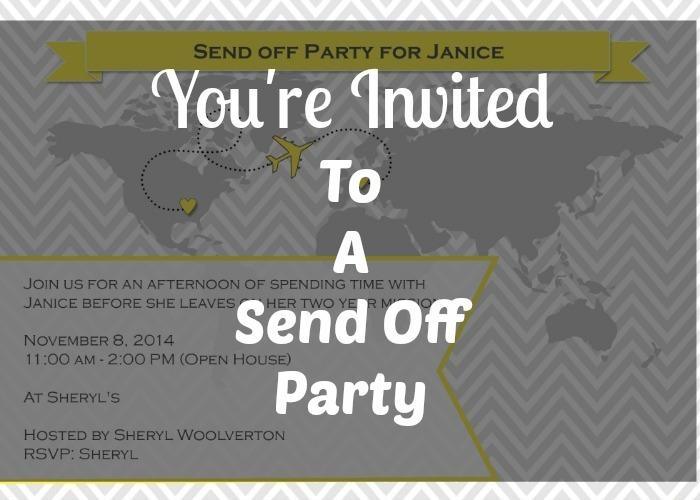 Send Off Invitation!