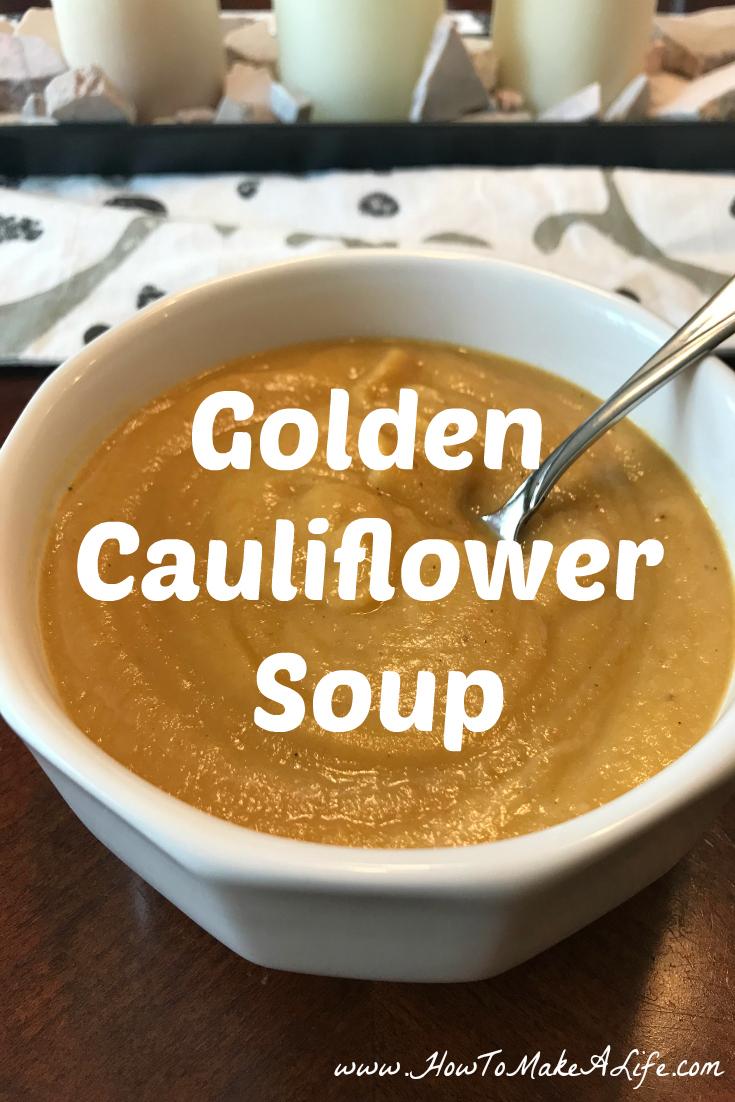 Paleo Golden Cauliflower Soup