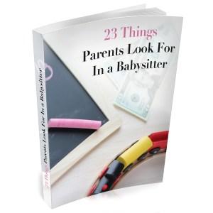 babysittting tips book