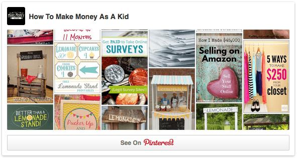 Façons pour les enfants de gagner de l'argent sur Pinterest
