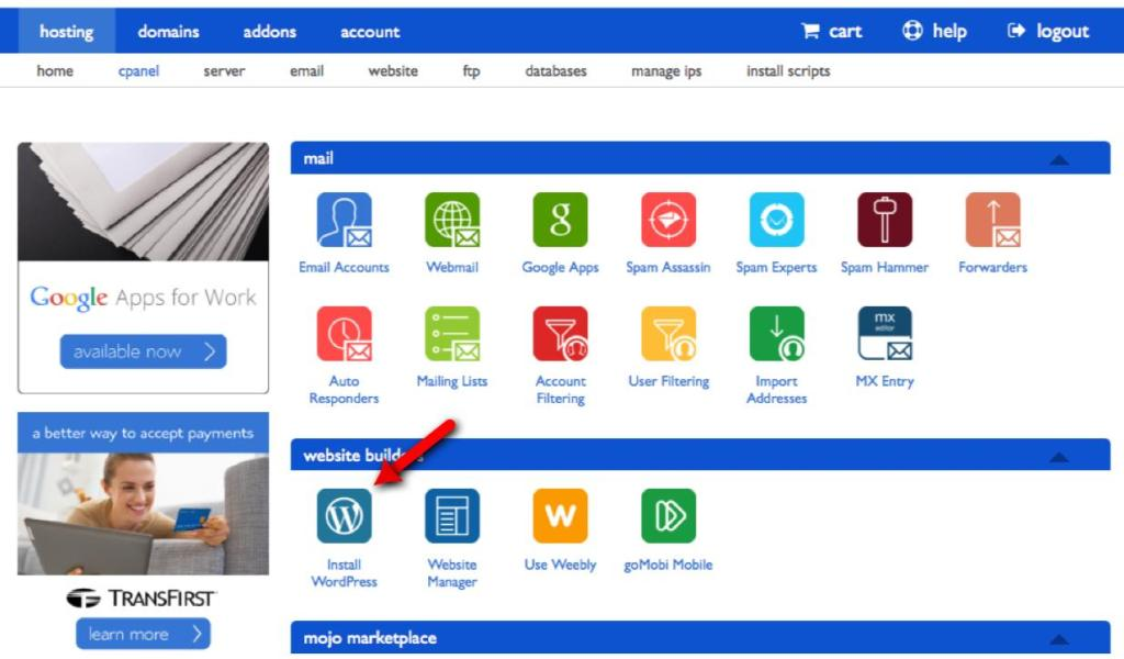 How to start a website as a kid 7-cPanel
