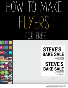 how to make flyers for free