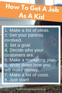 how to get a job as a kid