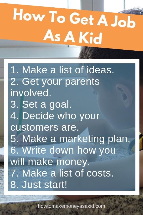 Job Ideas For Kids