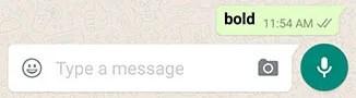 Bold WhatsApp