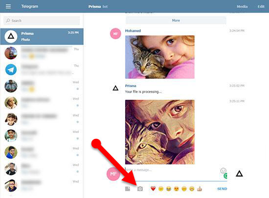 Prisma_filter_Telegram