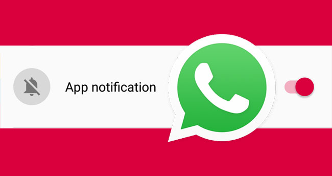 turn off WhatsApp notifications