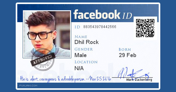 fake Create How Card Maker Facebook Id Identity To 2017