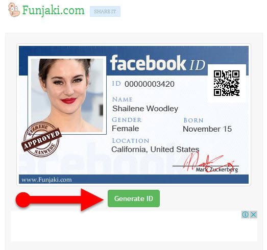 Facebook Id 2017 Card fake Maker Identity To Create How