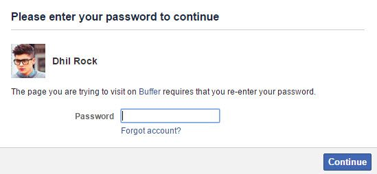 Enter_Facebook_Password_to_access_Buffer_app