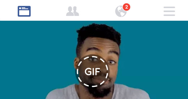 post a Gif on Facebook