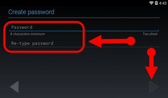Create a password for Gmail
