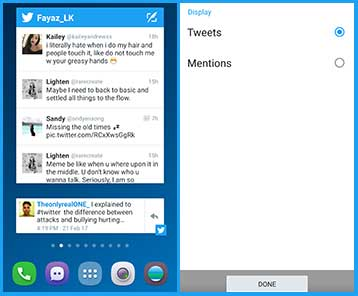 android twitter widget